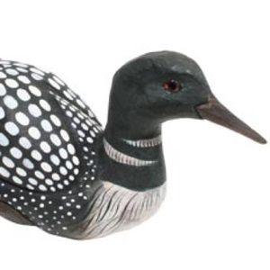 LOON WOOD CARVED 10""